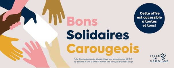 Bons solidaires Carougeois Institut Sao Carouge